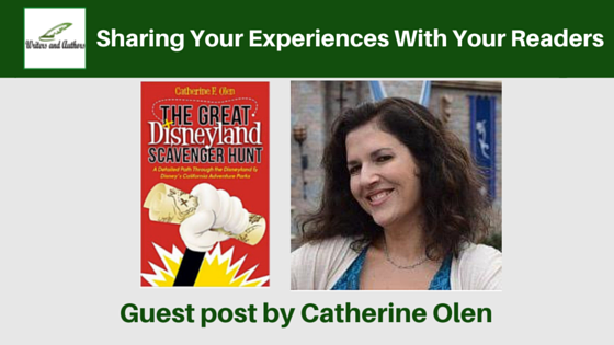 Sharing your experiences with your readers, guest post by Catherine Olen