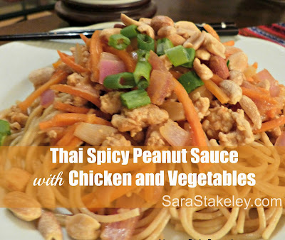 Thai Spicy Peanut Sauce with Chicken and Vegetables