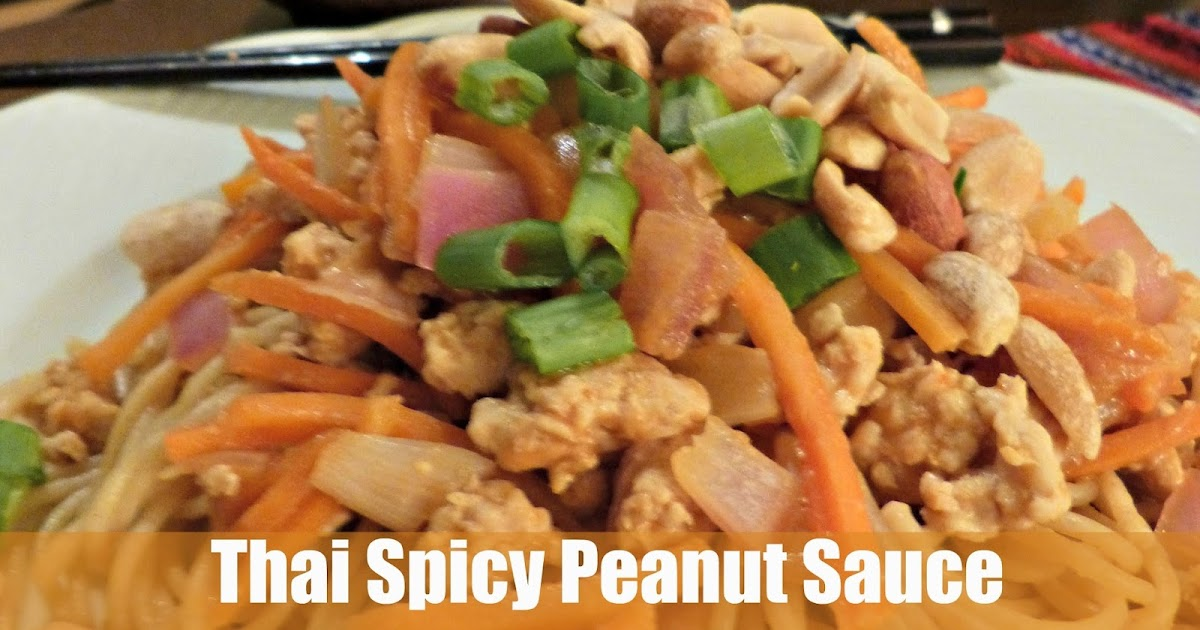 Sara Stakeley: Thai Spicy Peanut Sauce with Chicken and Vegetables