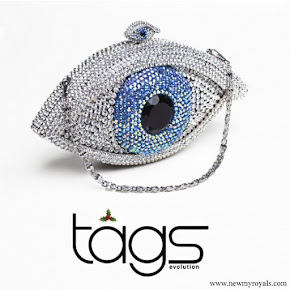 Princess Mette Marit carried Tágs Evolution Swarovski Crystal Eye Clutch