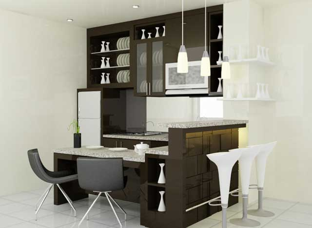 kitchen set minibar minimalis