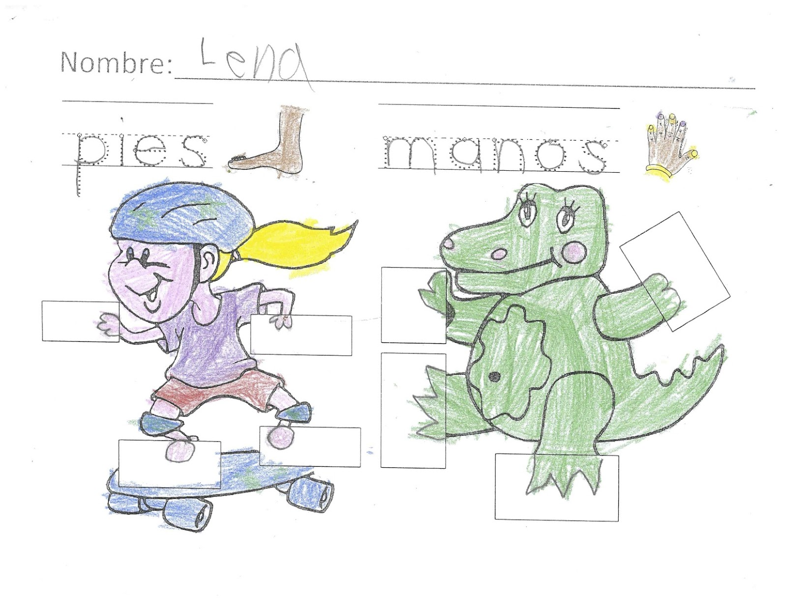 Spanish Simply Manos Y Pies Teaching The Parts Of The Body
