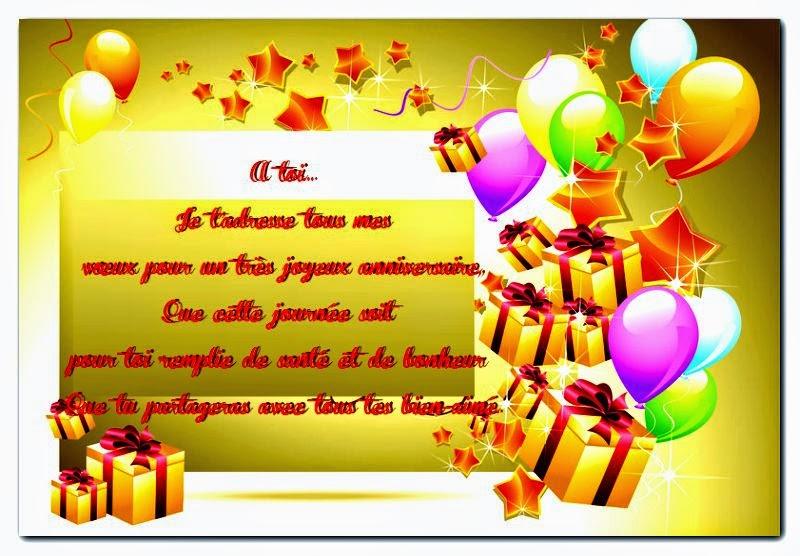 Exemple poème d'anniversaire gratuit