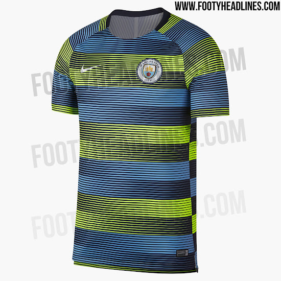 6671795ab Insane Manchester City 18-19 Pre-Match Jersey Released - Footy ...