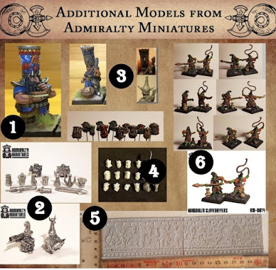 Due to Kickstarters Rules from Dancing Yak Miniatures