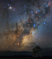 Milky Way Galaxy seen over Auxiliary Telescope