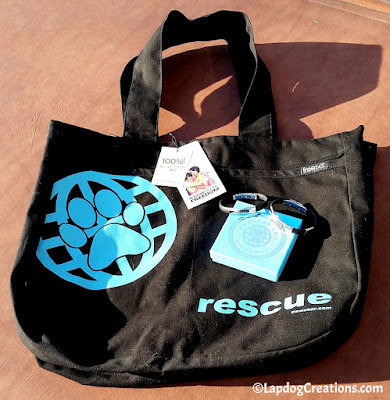 RESCUE tote bag and Cat & Dog Bracelets from #PawZaar - Global Style for Pet Lovers! #rescueddogs #adoptdontshop #animalwelfare #rescue #LapdogCreations ©Lapdog Creations