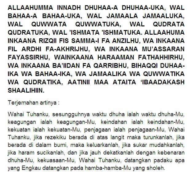 4 Doa Sholat Dhuha, Niat, Tata Cara Sholat Dhuha, Khasiat ...