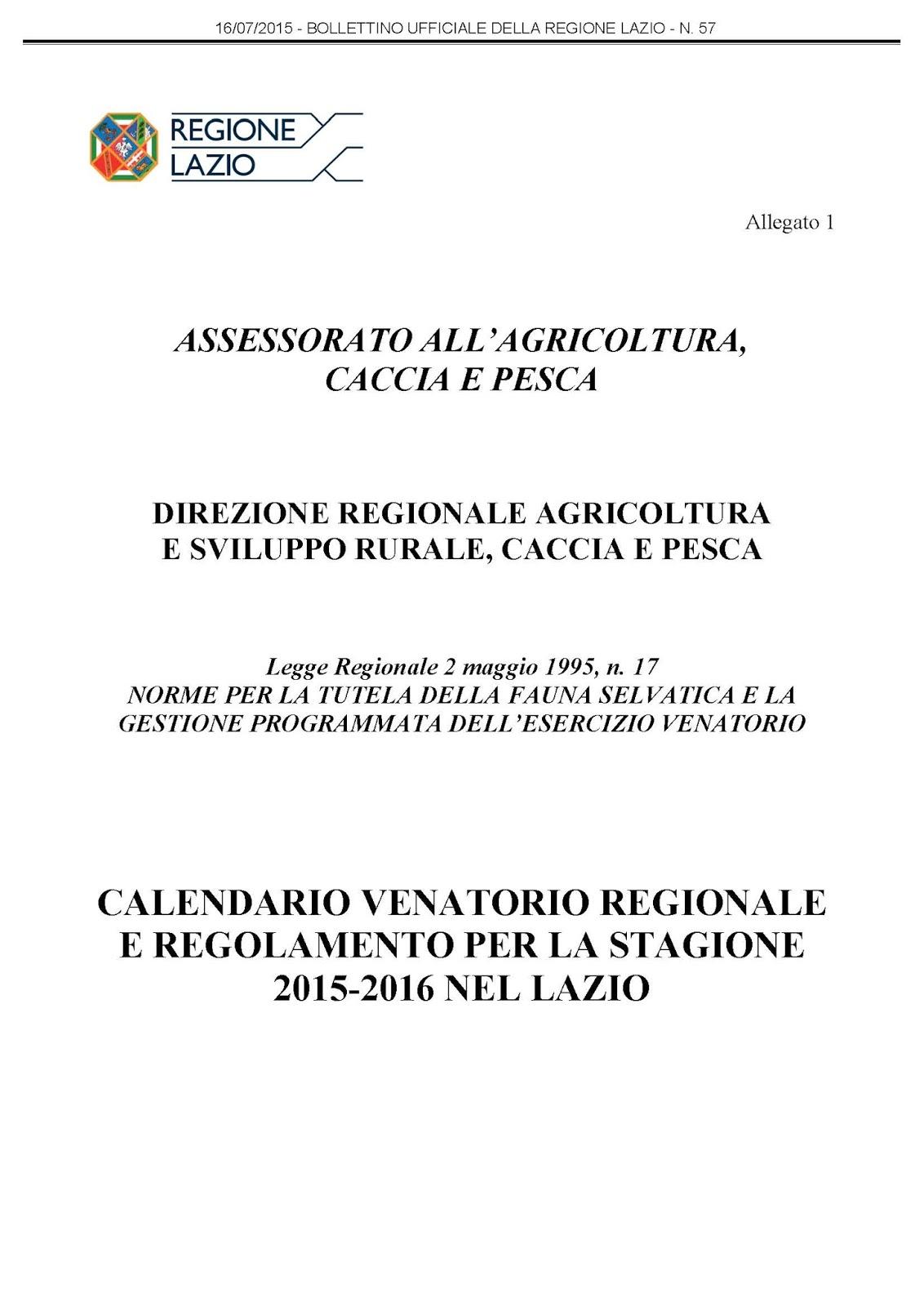 Calendario Venatorio Lazio 2020 2020.Regione Lazio Caccia E Pesca Calendario Venatorio Ikbenalles
