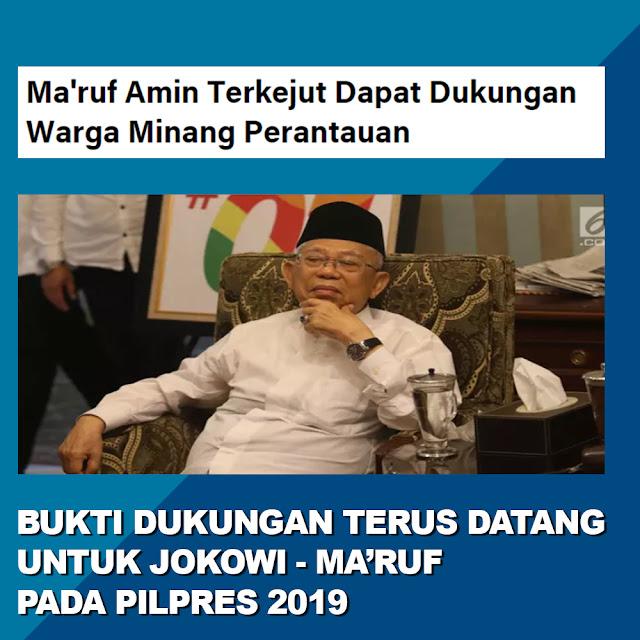Ma'ruf Amin Terkejut Dapat Dukungan Warga Minang Perantauan