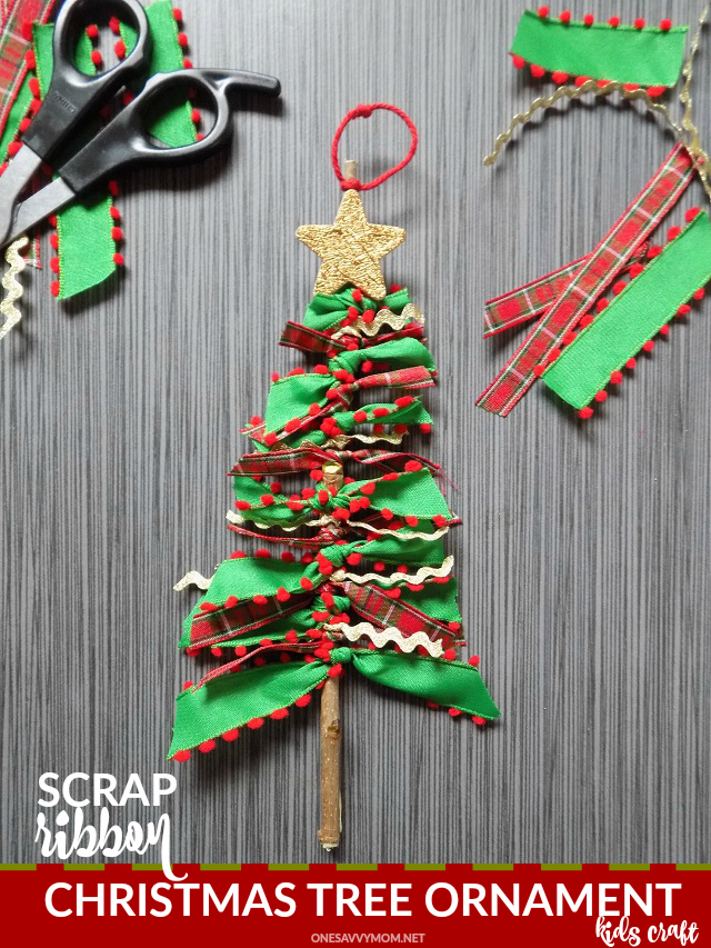 one savvy mom nyc area mom blog scrap ribbon tree ornaments