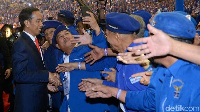 Jika PD Resmi Bergabung, Begini Kekuatan Koalisi Pro-Jokowi