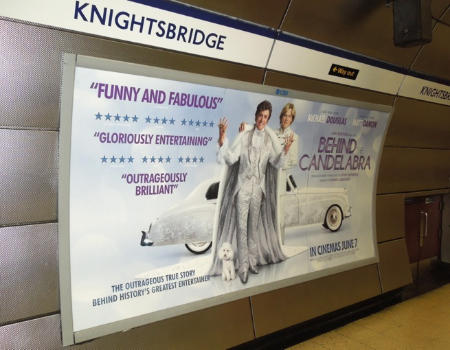 Behind Candelabra tube movie poster UK
