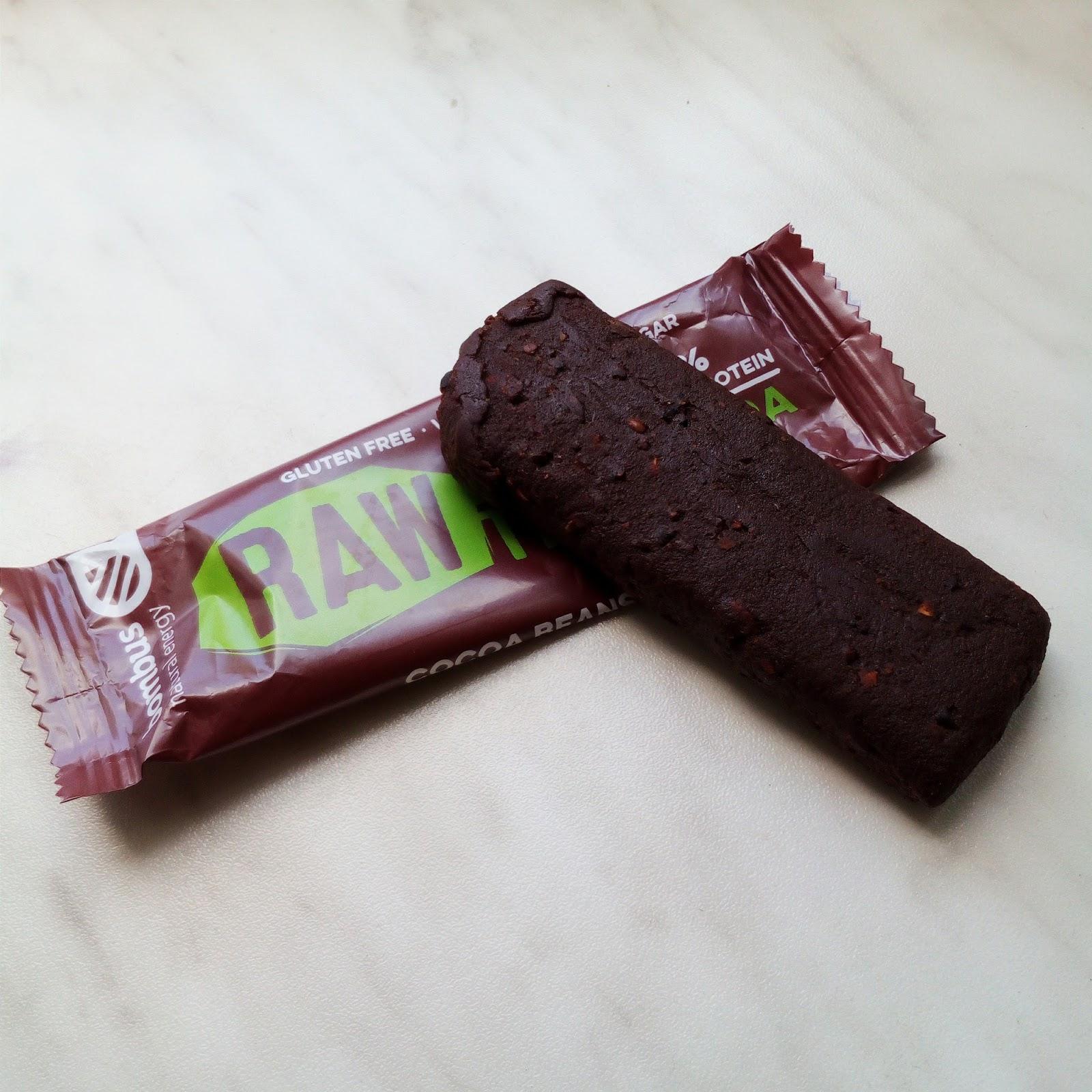Raw Bombus proteinové tyčinky