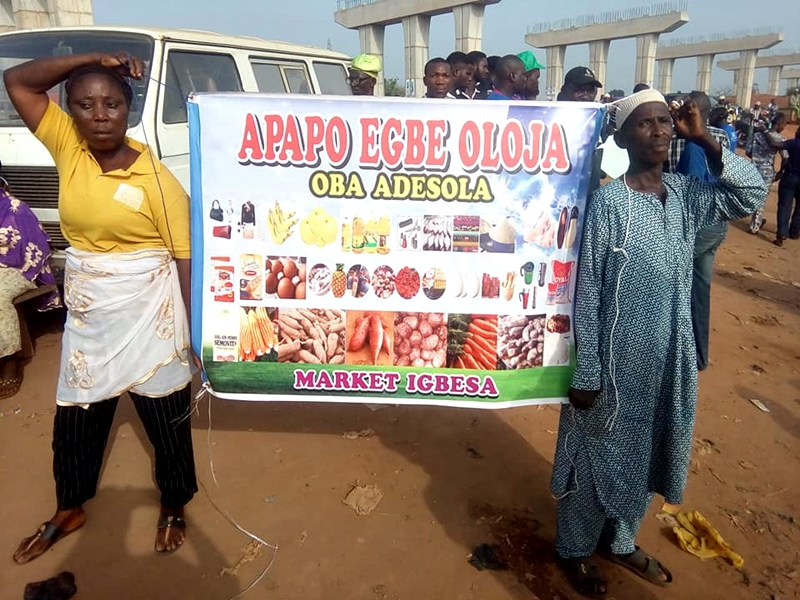 Ogun Residents Stage Protest Over Bad Federal Road - Photos & Video