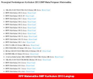 RPP Matematika SMP Kurikulum 2013 Lengkap