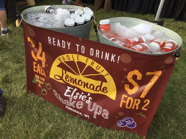 Fresh lemonade shake ups from Elsie Mae's at Taste of Wisconsin