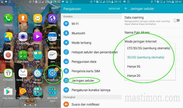 Cara setting sinyal 4G Samsung J3 terbaru dan terupdate 2018