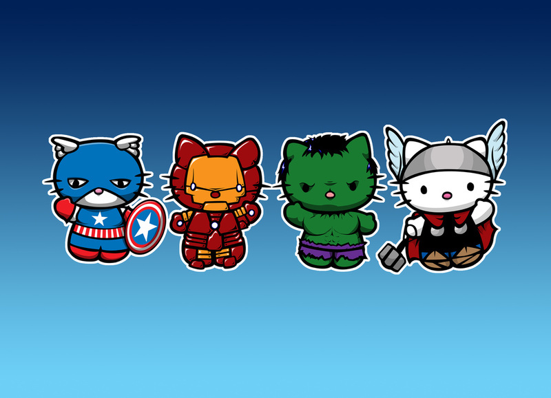 Fashion And Action Super Cute Avengers Mash Up Art Assemble!