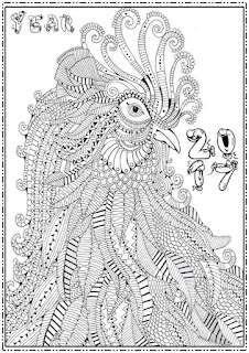 adult new year 2017 coloring pages free