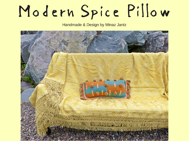Modern Spice Pillow design & handmade by Minaz Jantz