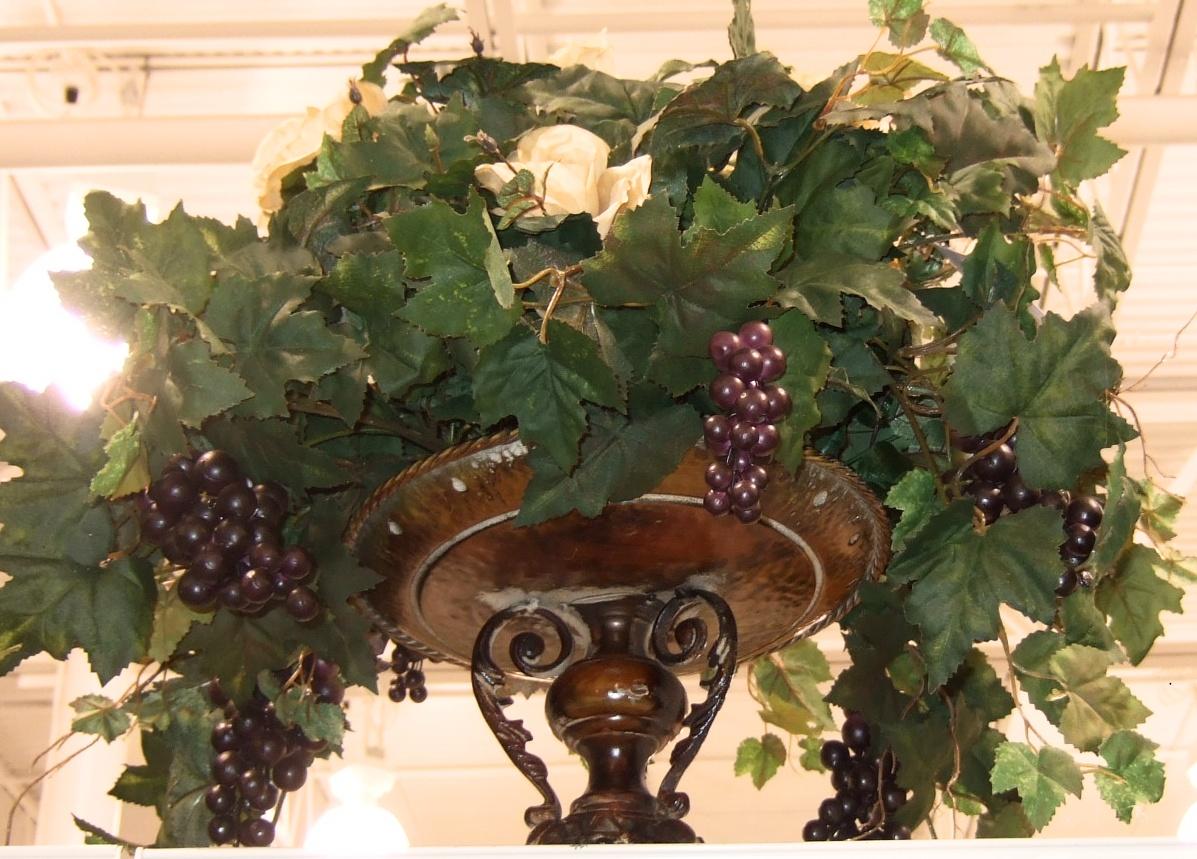 Ana Silk Flowers Pictures Kitchen Arrangements Grapes