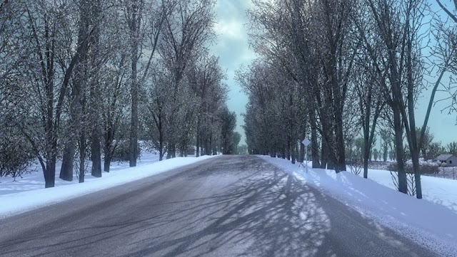 ets 2 frosty winter weather mod v7.1 screenshots 1