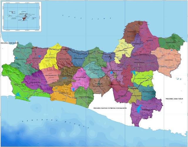 Peta Kabupaten dan Kota di Provinsi Jawa Tengah