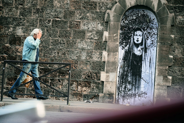 Several New Street Art Pieces By French Artist Monsieur Qui On The Streets Of Paris, France. 2