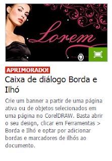 Caixa de diálogo Borda e Ilhó