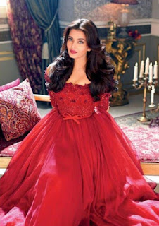 Aishwarya Rai Looking Pretty In Red Dress