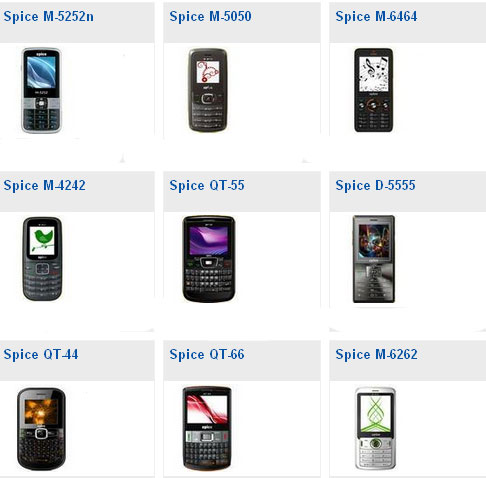 Spice Mobile phones price list with pictures ~ Find mobile phone