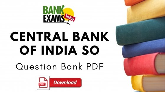Central Bank of India SO Question Bank PDF
