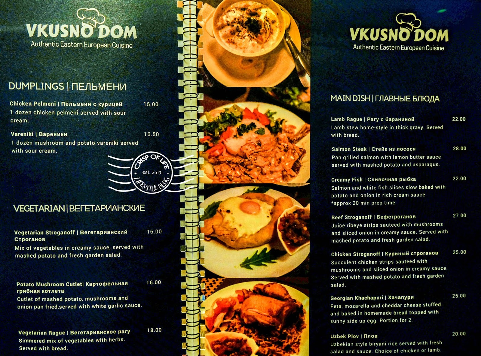 Vkusno Dom  Eastern European Cuisine Russian dish Lebuh Campbell Georgetown