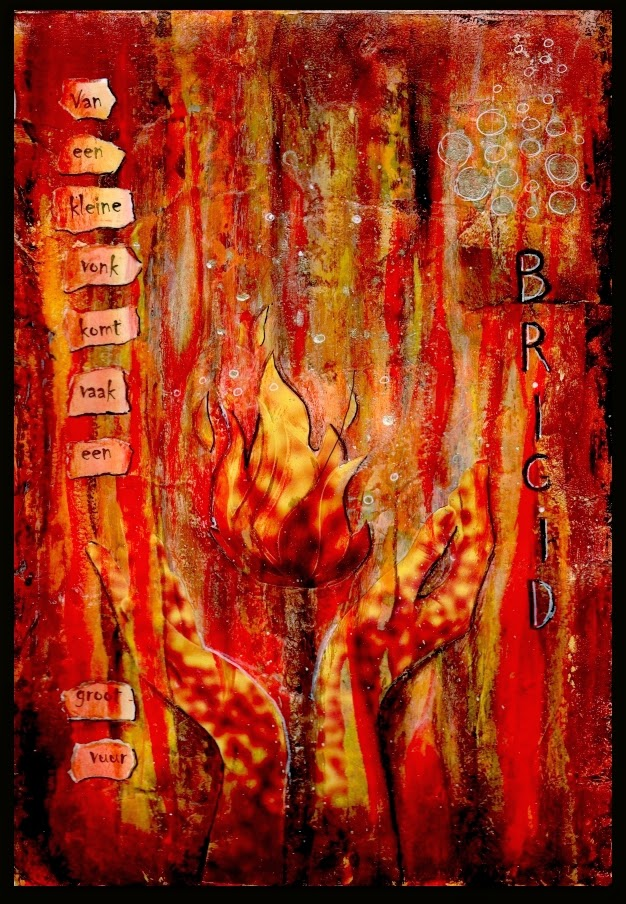 Mixed Media Brigid Fire Inspiration