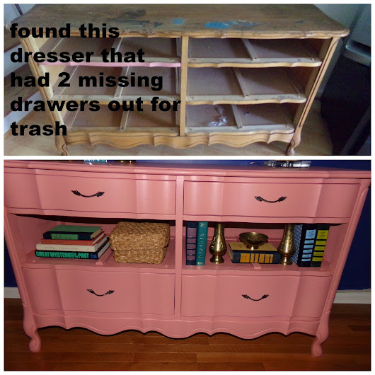 recycled dresser with missing drawers