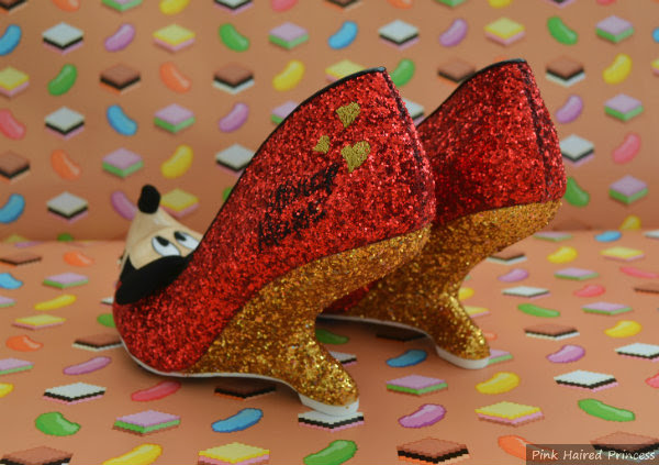 oh boy gold glitter heels
