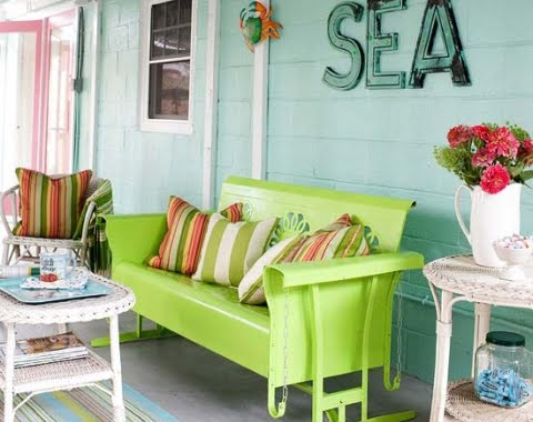 coastal porch decorating