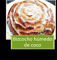 BIZCOCHO HÚMEDO DE COCO