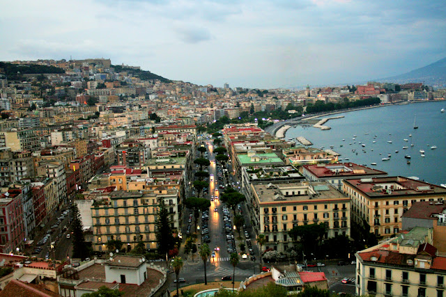 città, Napoli, traffico, luci, auto, macchine, palazzi, metropoli