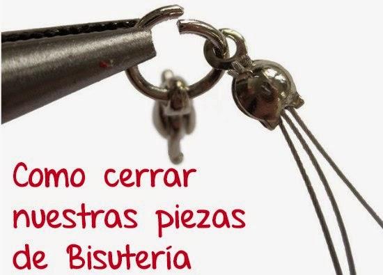 Como Cerrar nuestras piezas de Bisuteria
