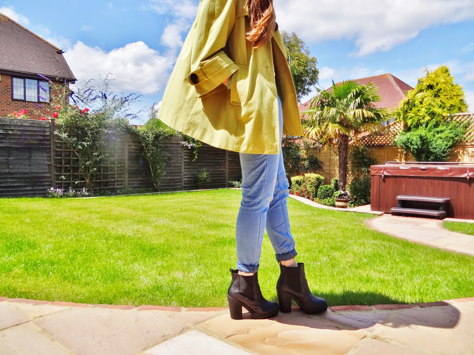 lime green cape coat