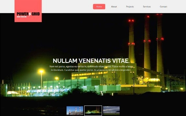 Power Grid Responsive web design template