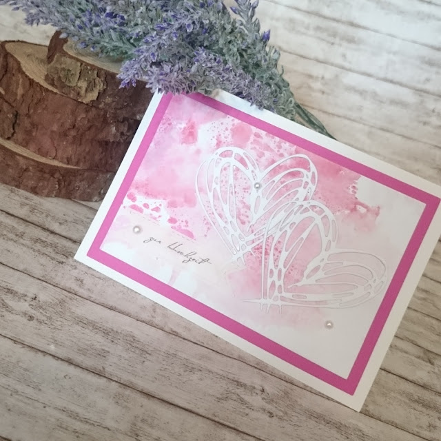 [DIY] Water Coloured Wedding Card // Hochzeits-Karte mit Aquarell-Hintergrund