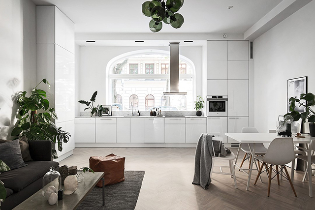 An elegant Stockholm space that's cosy too!