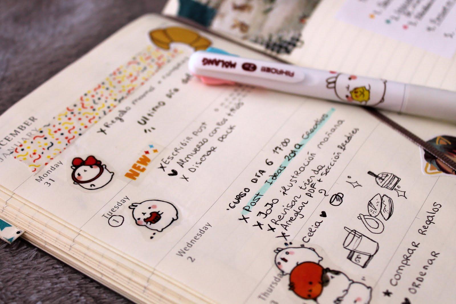 bullet journal moleskine cuaderno agenda