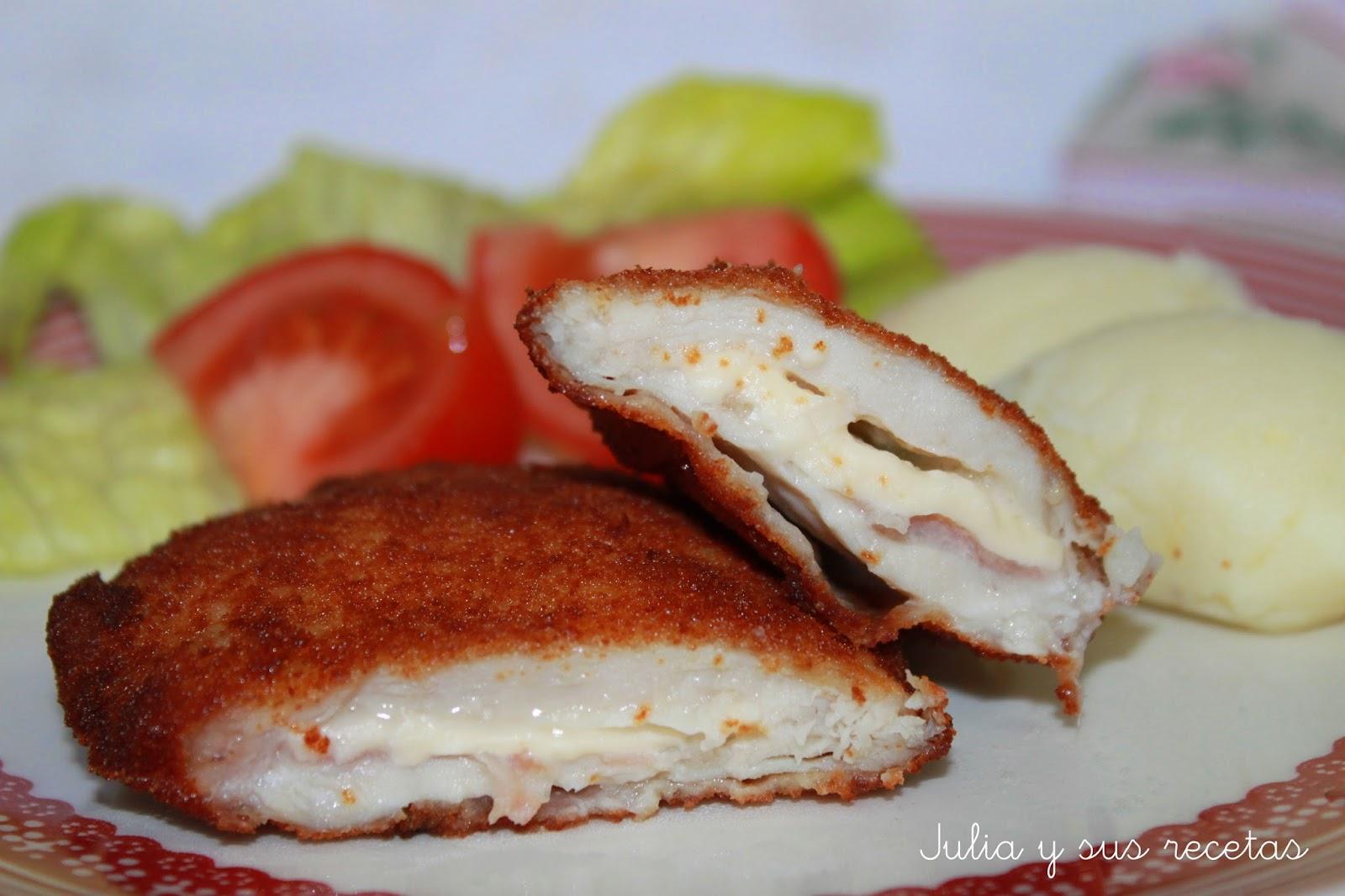 San Jacobos de pollo. Julia y sus recetas