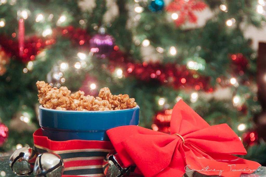 Courtney Tomesch Vegan Holiday Treats Carmel Popcorn