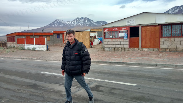 tiny Chilean town in Atacama desert