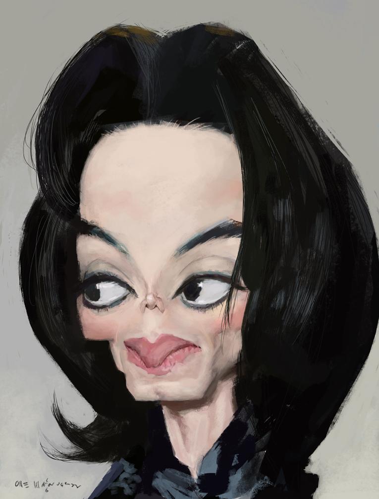 olle magnusson michael jackson caricature